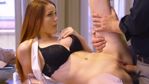 Huge tits brunette Charlie Red nailed rough in HD
