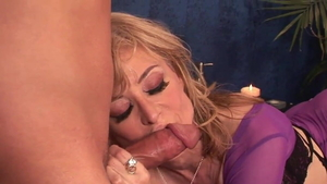 Nina Hartley in sexy lingerie strapon in HD