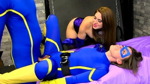 Blowjobs escorted by in latex HD