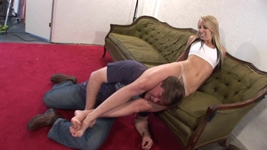 Big ass babe has a soft spot for wrestling HD