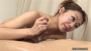 Japanese takes large dildo