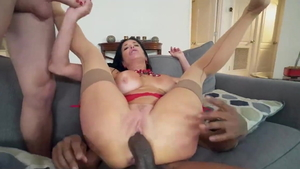 Large boobs Veronica Avluv fucked anal sucking cock