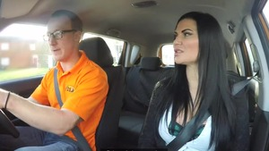 Jasmine Jae as well as Luke Hardy in car