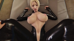 3d big boobs pussy eating in latex