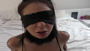 'Joanna cutie And petite Hands anal POV nail With Blindfold'