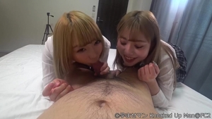 Japanese double blowjob
