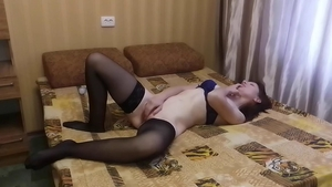 Lonely hotwife masturbation