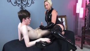 Masturbating escorted by very sexy amateur