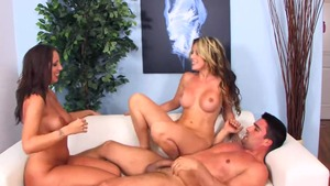 Busty and large tits pornstar Courtney Cummz group sex