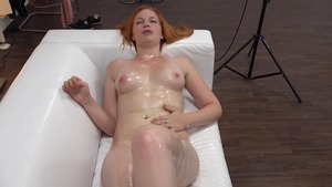 Hard sex accompanied by big tits redhead