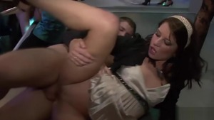 Very cute brunette moaning group sex HD
