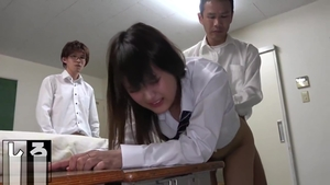 Gangbang after school with small tits schoolgirl